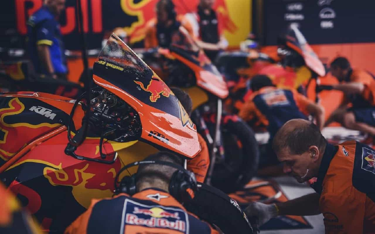 La manutenzione in MotoGP