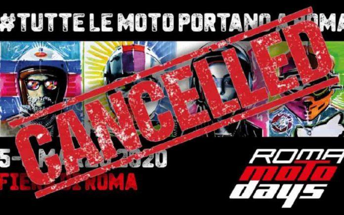 Roma MotoDays 2020 cancellato