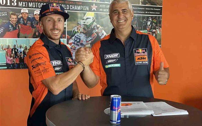 Tony Cairoli rinnova con KTM