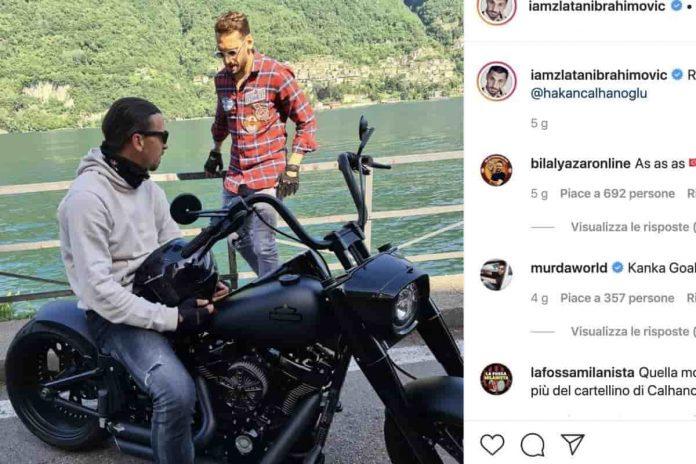 Zlatan Ibrahimovic e Harley Davidson
