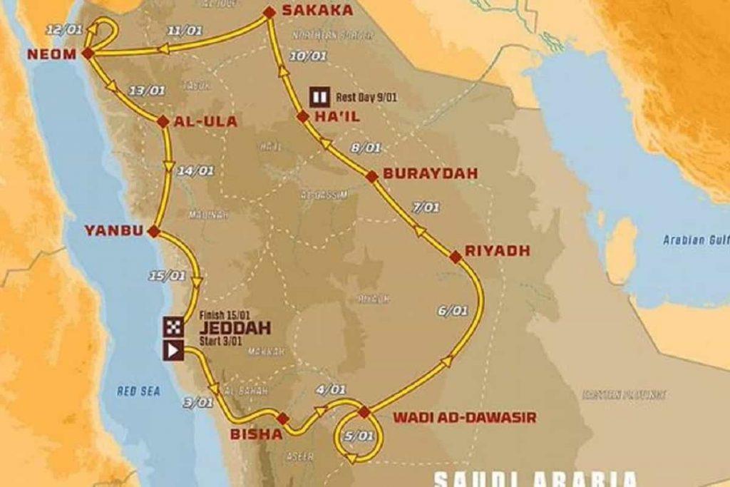 Presentata Dakar 2021 - Mappa